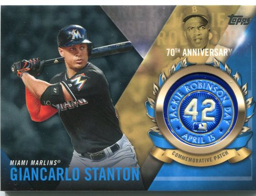 Photo of 2017 Topps Jackie Robinson Logo Patches #JRPCGS Giancarlo Stanton