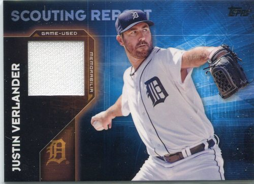 Photo of 2016 Topps Scouting Report Relics #SRRJVE Justin Verlander S2