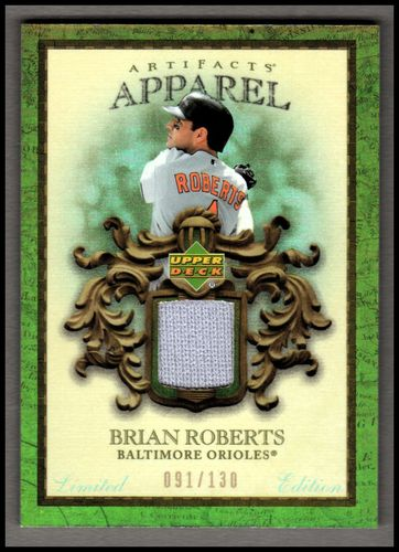 Photo of 2007 Artifacts MLB Apparel Limited #BR Brian Roberts