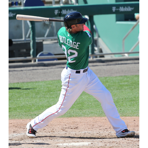Photo of Red Sox Foundation St. Patrick's Day Jersey Auction - Josh Rutledge Game-Used & Autographed Jersey