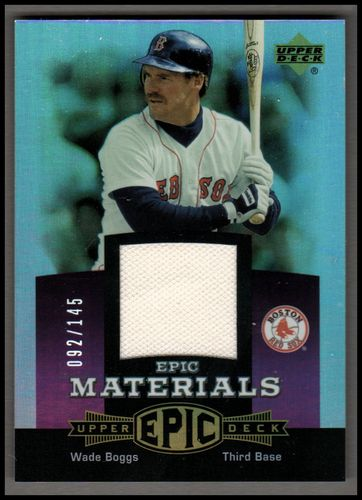 Photo of 2006 Upper Deck Epic Materials Light Purple #WB1 Wade Boggs Jsy/145