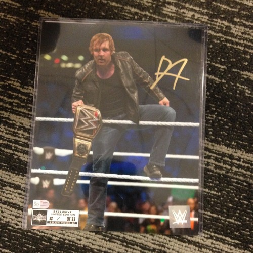 Photo of Dean Ambrose SIGNED 8 x 10 Limited Edition WrestleMania 33 Photo (#1 of 33)