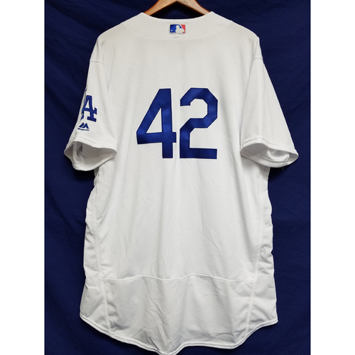 "Photo of Clayton Kershaw Game-Used ""42"" Jersey"