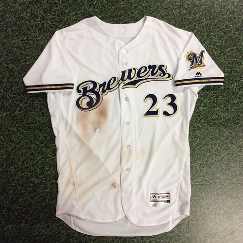 Photo of Keon Broxton 2017 Game-Used  Jersey
