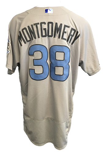 Photo of Mike Montgomery Game-Used Father's Day Jersey -- Cubs vs Pirates -- 6/17/17