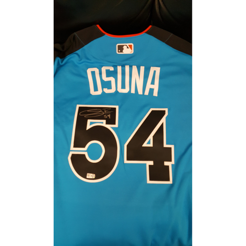 Photo of Roberto Osuna 2017 Major League Baseball Workout Day/Home Run Derby Autographed Jersey