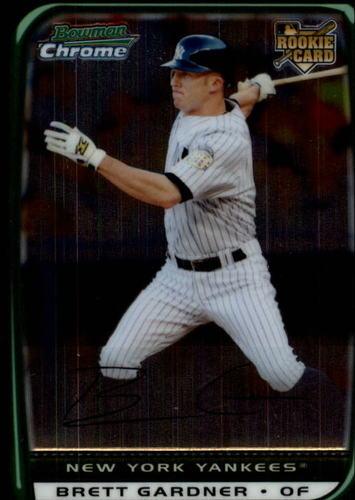 Photo of 2008 Bowman Chrome Draft #BDP18 Brett Gardner -- Yankees post-season