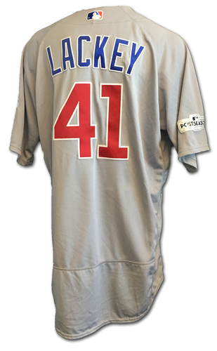 John Lackey Game-Used Jersey -- NLDS Game 2 -- Cubs at Nationals -- 10/7/17