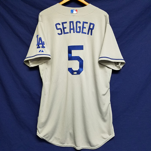 Photo of Corey Seager Team-Issued Rookie Season Road Jersey