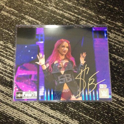 Photo of Sasha Banks SIGNED 8 x 10 Limited Edition WrestleMania 33 Photo (#1 of 33)