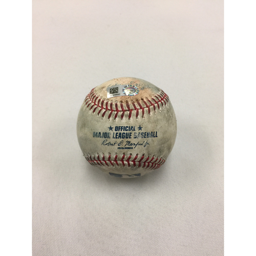 Photo of Rangers at Red Sox May 25, 2017 Game-Used Ball