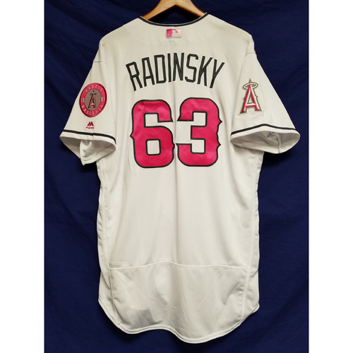 Photo of Scott Radinsky Game-Used Home Mother's Day Jersey