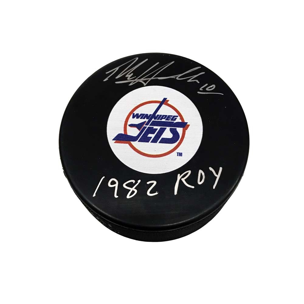 DALE HAWERCHUK Signed Winnipeg Jets Puck with