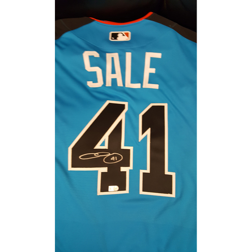 Photo of Chris Sale 2017 Major League Baseball Workout Day/Home Run Derby Autographed Jersey