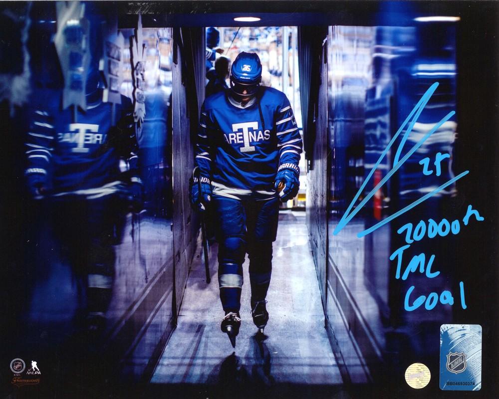 James Van Riemsdyk - Signed 8x10 Unframed Maple Leafs Tunnel-H Insc. 20,000th TML Goal