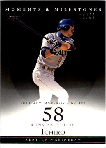 Photo of 2007 Topps Moments and Milestones Black #10-58 Ichiro Suzuki/RBI 58
