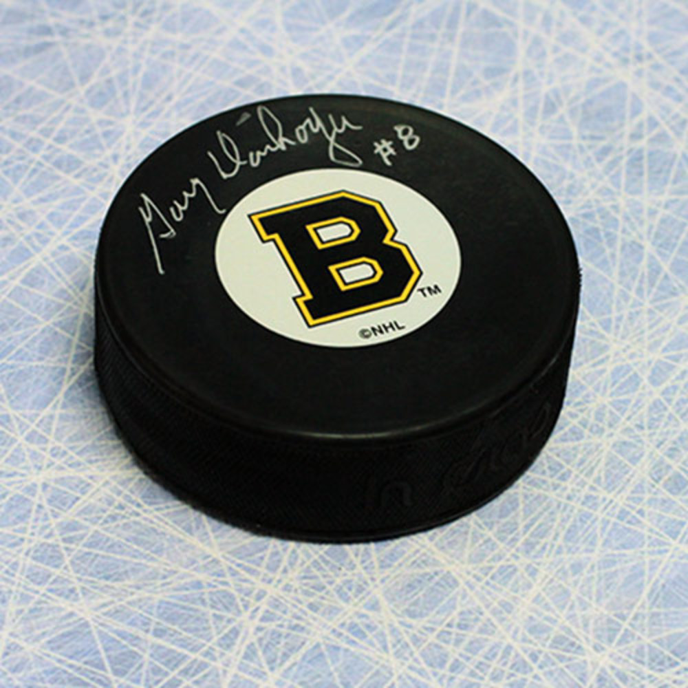 Gary Dornhoeffer Boston Bruins Autographed Hockey Puck