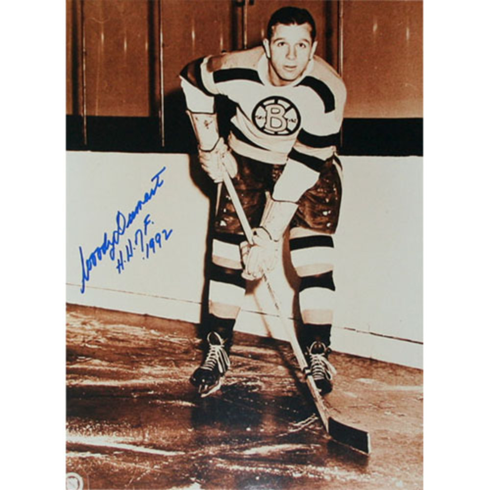 Woody Dumart (deceased) Autographed Boston Bruins 11X14 Photo w/