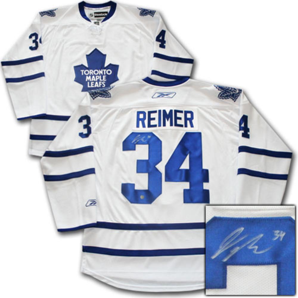 James Reimer Autographed Toronto Maple Leafs Jersey