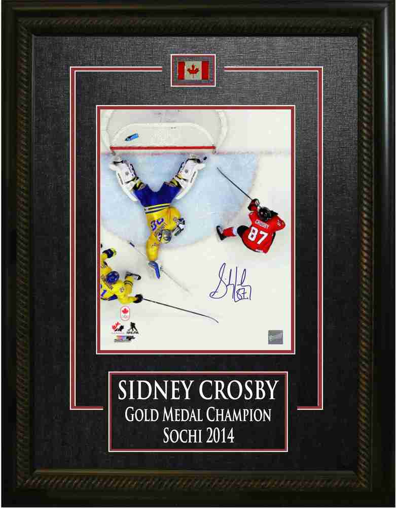 Sidney Crosby - Signed 8x10 Etched Mat - Team Canada 2014 Olympics - Overhead Scoring