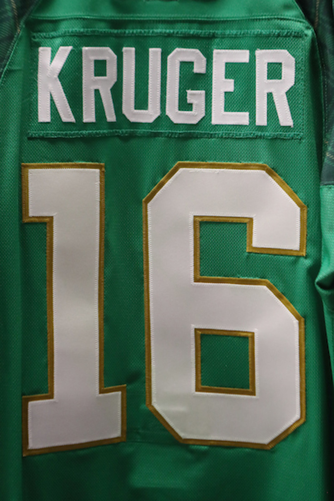 #16 - Marcus Kruger Autographed Authentic St. Patrick's Day Jersey