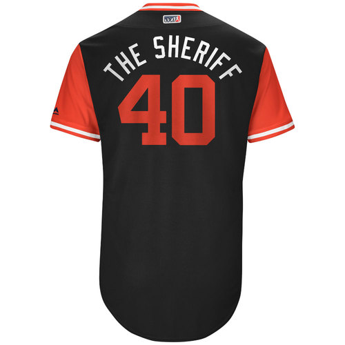 "Photo of Andrew ""The Sheriff"" Chafin Arizona Diamondbacks Game-Used Players Weekend Jersey"