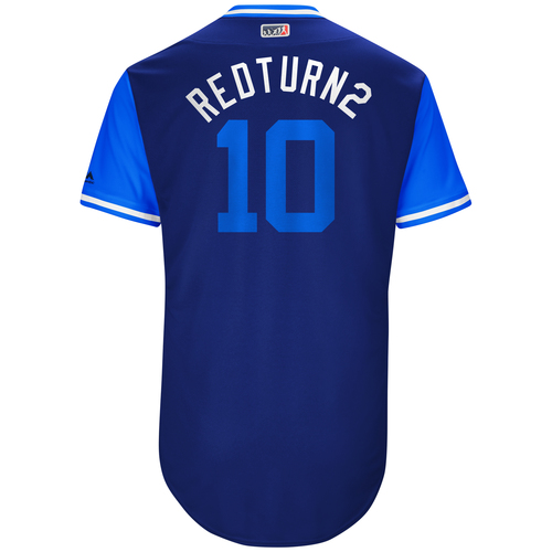 "Photo of Justin ""Redturn2"" Turner Los Angeles Dodgers Game-Used Players Weekend Jersey"