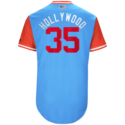 """Photo of Cole """"Hollywood"""" Hamels Texas Rangers Game-Used Players Weekend Jersey"""