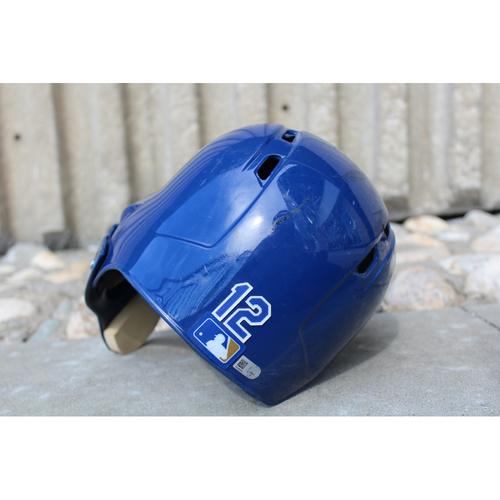 Photo of Game-Used Helmet: Jorge Soler (Size 7 1/4 - ARI at KC - 10/1/17)
