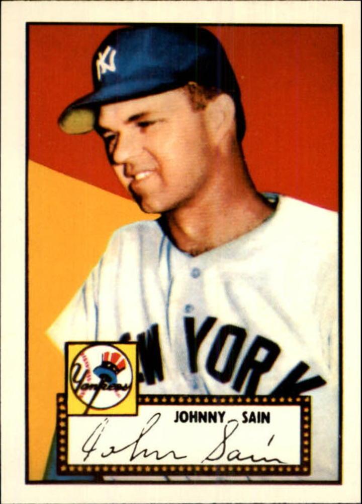 1983 Topps 1952 Reprint #49 Johnny Sain