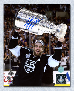 Anze Kopitar Los Angeles Kings Autographed 2014 Stanley Cup 8x10 Photo