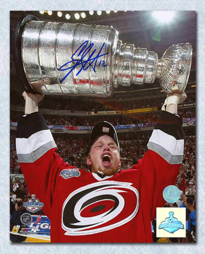 Eric Staal Carolina Hurricanes Autographed 2006 Stanley Cup 8x10 Photo *Minnesota Wild*