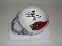NFL - CARDINALS CALAIS CAMPBELL SIGNED CARDINALS MINI HELMET