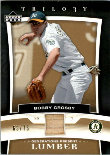 Photo of 2005 Upper Deck Trilogy Generations Present Lumber Gold #BC Bobby Crosby