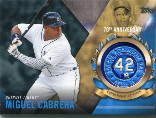 Photo of 2017 Topps Jackie Robinson Logo Patches #JRPCMCB Miguel Cabrera