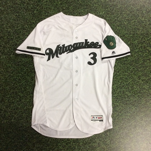 Photo of Orlando Arcia 2017 Memorial Day Tribute Game-Used Jersey