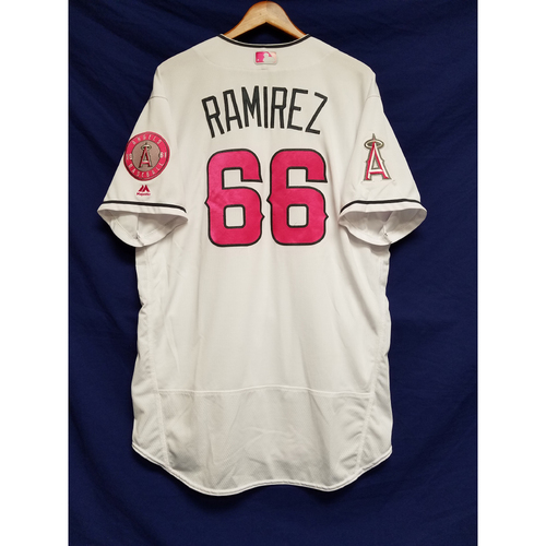 Photo of J.C. Ramirez Game-Used Home Mother's Day Jersey