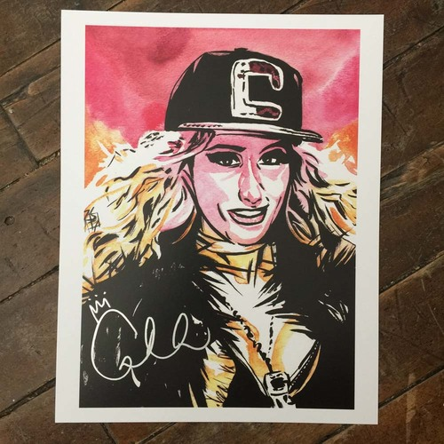 Photo of Carmella SIGNED 11 x 14 Rob Schamberger Print