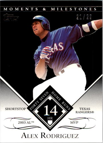 Photo of 2007 Topps Moments and Milestones Black #27-14 Alex Rodriguez/HR 14