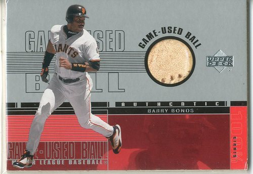 Photo of 2001 Upper Deck Game Ball 2 #BBB Barry Bonds