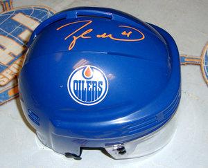 Taylor Hall Edmonton Oilers Autographed Mini Helmet