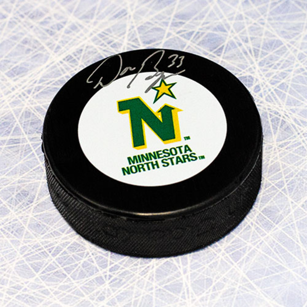 Don Beaupre Minnesota North Stars Autographed Hockey Puck