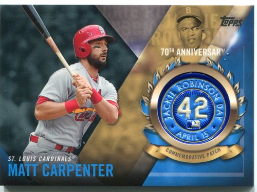 Photo of 2017 Topps Jackie Robinson Logo Patches #JRPCMCR Matt Carpenter