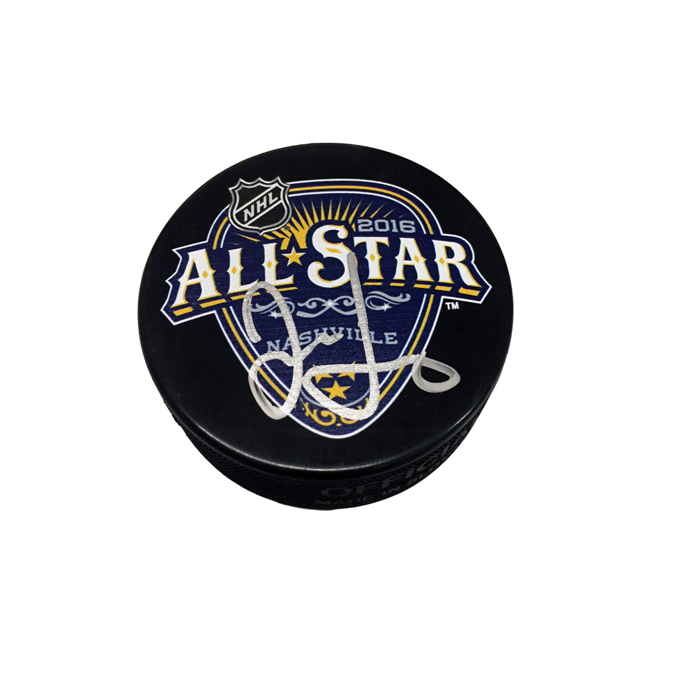JAROMIR JAGR Signed 2016 NHL All-Star Game Puck