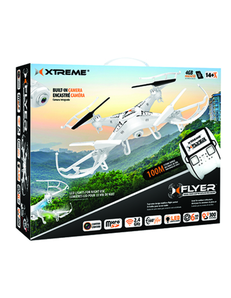XTREME Cables XFlyer Full Size Aerial 6 Axis Quadcopter with HD Camera