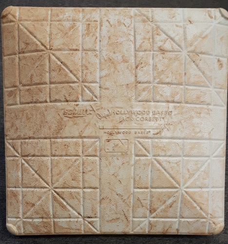 Photo of Authenticated Game Used Base from March 31st/April 1st, 2017  vs Pittsburgh Pirates - Montreal Spring Training Series