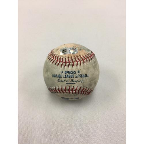 Photo of Mariners at Red Sox May 28, 2017 Game-Used Ball
