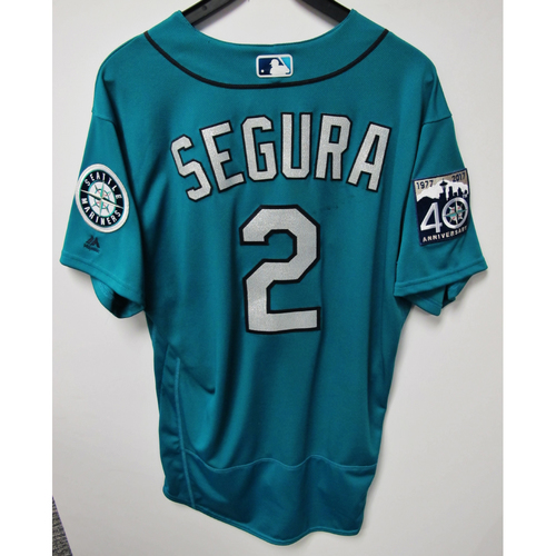 Photo of Jean Segura Green 40th Anniversary Game-Used Jersey, 7-7-2017 (Size 46)
