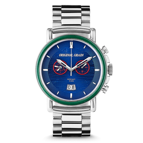Photo of The Wrigley Field Chrono - Limited Edition Swiss Quartz Crafted with Wrigley Field Stadium Seat by Original Grain