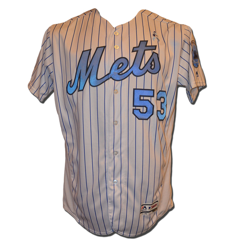 Glenn Sherlock #53 - Game Used Father's Day Jersey - Mets vs. Nationals - 6/18/17